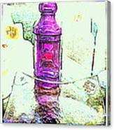 The Purple Medicine Bottle Canvas Print