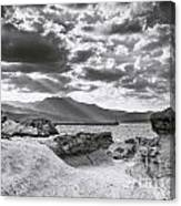 The Queen's Head Geological Park. Toned Canvas Print