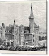 The Queens Residence In Italy Villa Clara Lago Maggiore 1879 Canvas Print