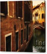 The Quiet Canal Canvas Print