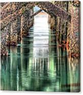 The Quiet Of Green Canvas Print
