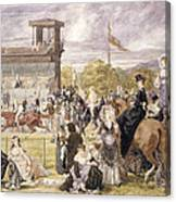 The Races At Longchamp In 1874 Canvas Print