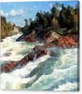 The Raging Rapids Canvas Print
