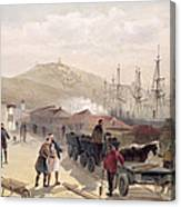 The Railway At Balaklava, Plate Canvas Print