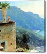 The Ravello Coastline Canvas Print
