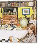 The Reading Room, Pub. In Lasst Licht Canvas Print