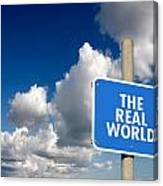 The Real World Canvas Print