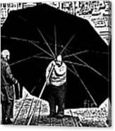 The Really Big Umbrella Canvas Print