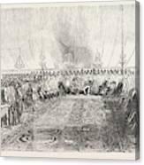 The Reception In Full Durbar, At Wuzeerabad Canvas Print