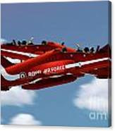 The Red Arrows Synchro Pair Canvas Print