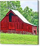 The Red Barn - Featured In Old Buildings And Ruins Group Canvas Print