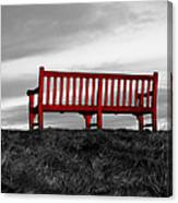 The Red Bench Canvas Print