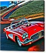 The Red Corvette Canvas Print