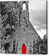The Red Door Monochrome Canvas Print