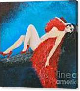 The Red Feather Boa Canvas Print