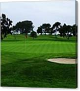 The Red Flagstick-torrey Pines Canvas Print