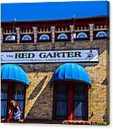The Red Garter Canvas Print