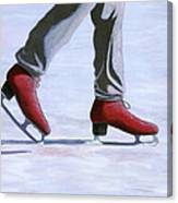 The Red Ice Skates Canvas Print