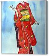 The Red Kimono Canvas Print