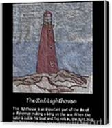 The Red Lighthouse Canvas Print