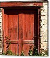 The Red Mill Door Canvas Print