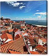 The Red Roofs Of Lisbon #2 Canvas Print