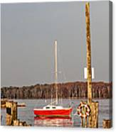 The Red Sailboat Canvas Print