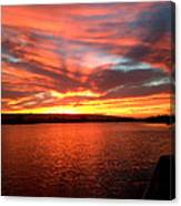 The Red Sky Canvas Print
