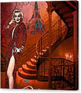 The Red Stair Canvas Print