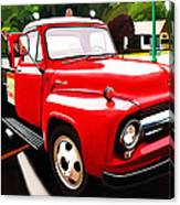The Red Tow Truck Canvas Print