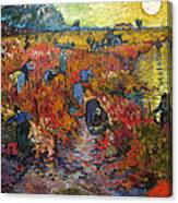 The Red Vineyard Canvas Print