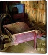 The Red Wheelbarrow Canvas Print