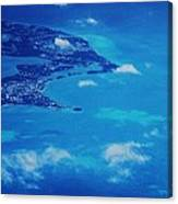 Bermuda Blue, Aerial Canvas Print