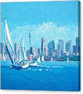 The Regatta Sydney Habour By Jan Matson Canvas Print