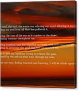 The Renewal Poem Canvas Print