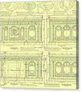 The Resolute Desk Blueprints - Soft Yellow Canvas Print