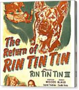 The Return Of Rin Tin Tin, Us Poster Canvas Print