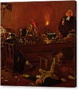 The Reverend Geoffrey Shovel, Chaplain Canvas Print