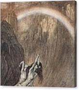 The Rhine S Fair Children Bewailing Their Lost Gold Weep Canvas Print
