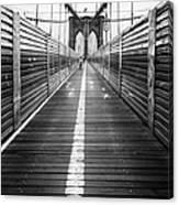 The Riders Brooklyn Bridge Canvas Print