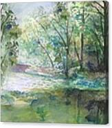 The River Going Out From The Forest Canvas Print
