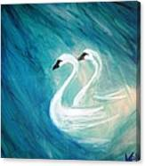 The River Of Swans Canvas Print