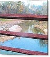 The River Through The Rails Canvas Print