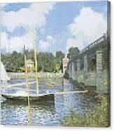 The Road Bridge At Argenteuil Canvas Print