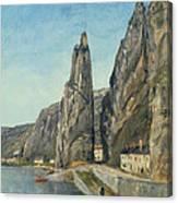 The Rock At Bayard, Dinant, Belgium Canvas Print