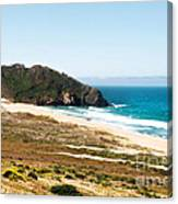 The Rock Of Piedras Blancas Lighthouse In San Simeon Ca Canvas Print