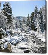 The Rockies In Winter Canvas Print