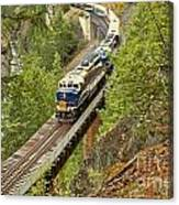 The Rocky Mountaineer Above The Cheakamus River Canvas Print
