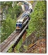 The Rocky Mountaineer Railroad Canvas Print