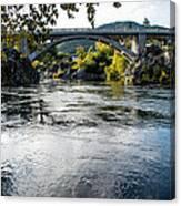 The Rogue River At Gold Hill Bridge Canvas Print